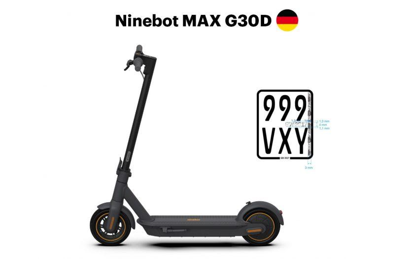 Ninebot MAX G30D - mit Straßenzulassung für Deutschland