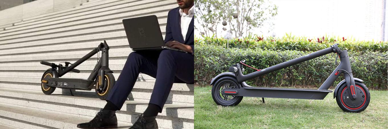 Sehen sich sehr ähnlich: Ninebot MAX vs Xiaomi Scooter Pro im Vergleich