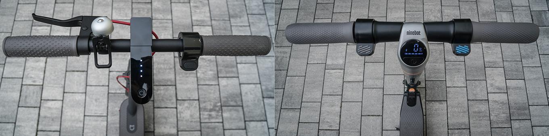 Xiaomi M365 vs Ninebot ES2 by Segway - Vergleich Lenkerstange