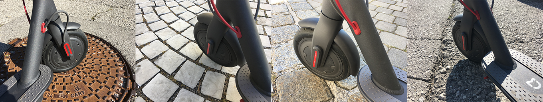 Xiaomi Scooter gleitet angenehm auf jedem Straßenbelag