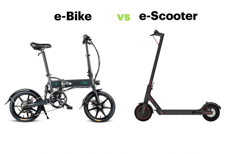 e-Bike vs E-Scooter - Eine Alternative?